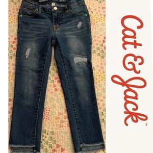 Cat & Jack Distressed Skinny Crop Jeans